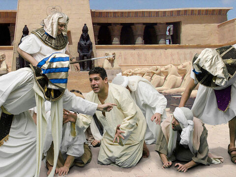 When Joseph regained his composure, he chose Simeon and had him tied up right before their eyes. – Slide 19