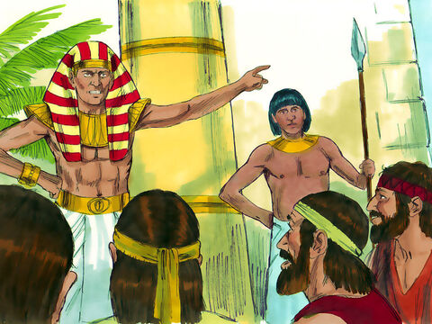 Joseph accused them of being spies.'No, my lord!' they protested. 'Your servants have simply come to buy food.We are all brothers of the same family. Our youngest brother is back in Canaan.''You are spies!' Joseph insisted. – Slide 3