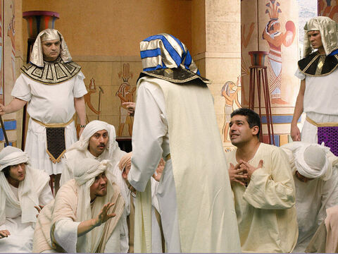 When Joseph arrived, they bowed and gave him their gifts. 'How is your father, the old man you spoke about? Is he still alive?' Joseph asked. They bowed low again and replied, 'Our father, your servant, is alive and well.' – Slide 12