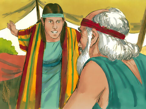This upset Joseph's older half-brothers. Matters became worse when Joseph was tending his father's flock with them then went running to Jacob to complain about their work. When his brothers saw that their father loved him more than any of them, they hated him and could not speak a kind word to him. – Slide 2