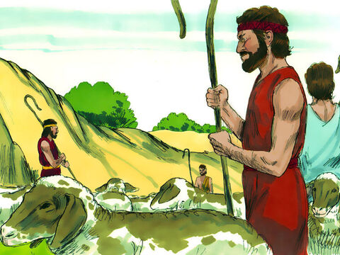 Joseph's brothers had travelled north to Shechem to find pastures to graze their father's flocks. Joseph had remained at home with his father Jacob in the valley of Hebron. – Slide 1