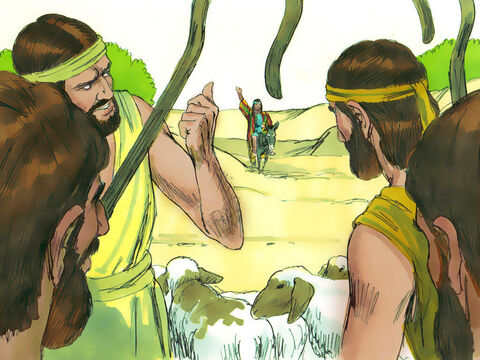 However, when his brothers saw him in the distance they plotted to kill him. – Slide 7