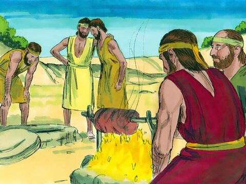 As they sat down to eat their meal, they saw a caravan of Ishmaelite traderscoming from Gilead. Their camels were loaded with spices, balmand myrrhthey were taking to Egypt. – Slide 12