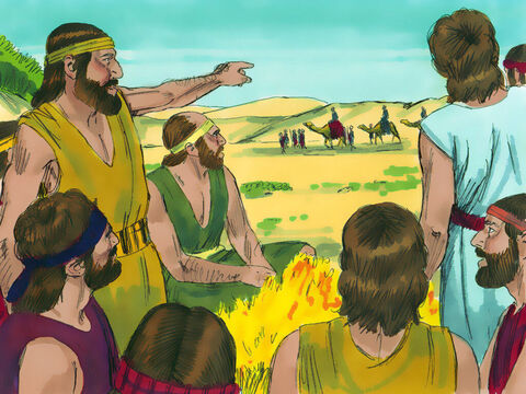 Judahsaid to his brothers, 'Let's not kill Joseph but sell him to the Ishmaelites.' So they pulled Joseph up out of the cisternand soldhim for twenty shekelsof silverto the Ishmaelite traders. – Slide 13