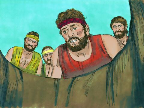 Rueben had not been with the other brothers when Joseph was sold. When he discovered Joseph was no longer in the cistern he tore his clothes in grief. 'The boy isn't there! What can I do now?' Then they got Joseph's robe,slaughtered a goat and dipped the robe in the blood. – Slide 15