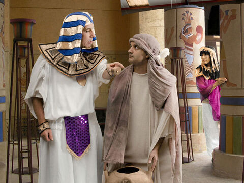 After being bought as a slave by Potiphar, Joseph worked hard for his master. Potiphar was an official of Pharaoh and captain of the guards. – Slide 1