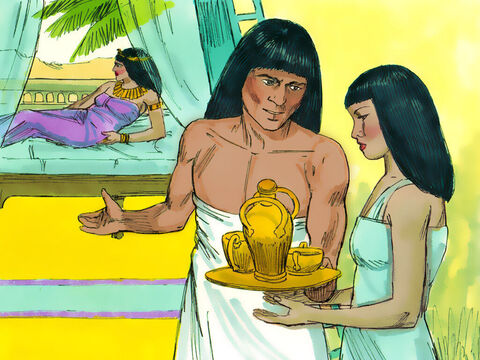 Potiphar's wife did not give up. Every day she spoke to Joseph but he refused to have an affair with her. He even took steps to avoid going near her. – Slide 7