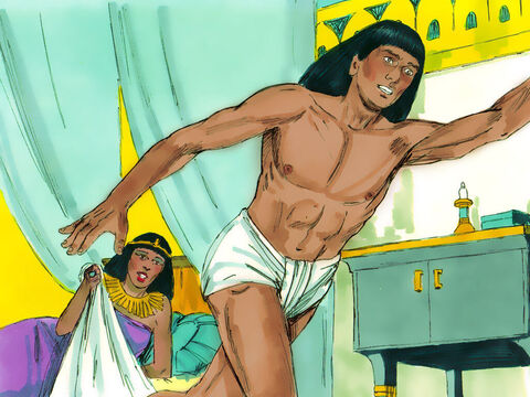 Joseph struggled out of her grasp and ran out of the house. – Slide 9