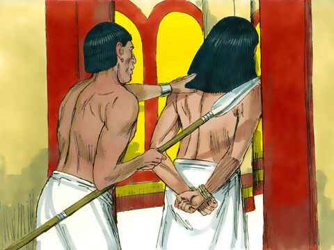 Potiphar was furious and ordered that Joseph be put in the prison where the King's prisoners were confined. Poor, innocent, Joseph was now in jail. – Slide 12