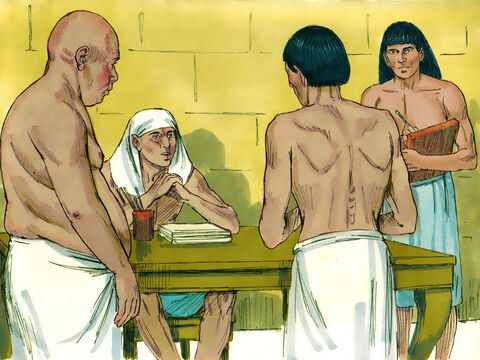 While Joseph was in prison, the Lord was with him. The prison warder was impressed and put Joseph in charge of the other prisoners and the daily routine of the prison. One day two new prisoners arrived, Pharaoh's baker and cupbearer, who had each done something to anger Pharaoh. – Slide 1