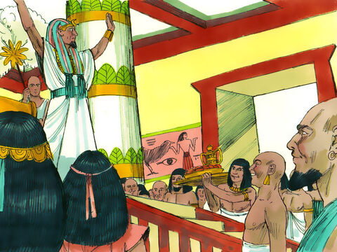 Three days later it was Pharaoh's birthday and he gave a feast for his officials. Pharaoh ordered that his baker and cupbearer appear before him. – Slide 9