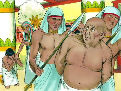 Pharaoh pardoned the cupbearer and gave him his job back. He then ordered the baker to be executed – just as Joseph had said he would. – Slide 11