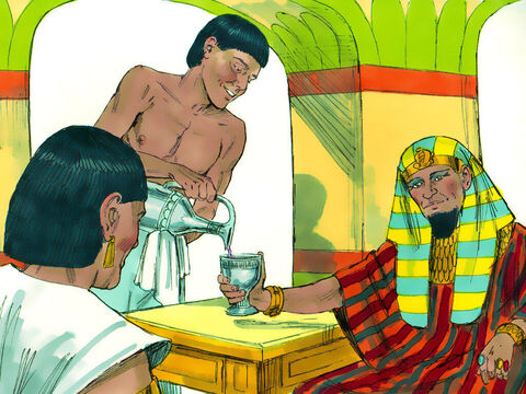 Once the cupbearer was back doing his job, he completely forgot about Joseph and did not mention his plight to Pharaoh. – Slide 12