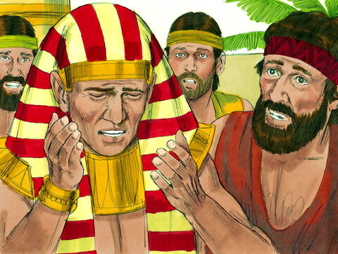 Joseph could bear it no longer. He asked his servants to leave so he could be alone with his brothers. – Slide 12