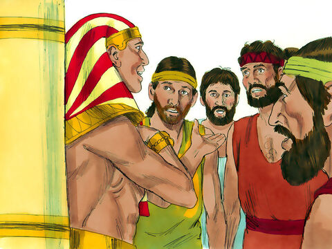 'I am Joseph, your brother, whom you sold as a slave,' he announced. The shocked brothers were speechless. – Slide 14