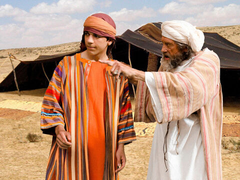 Genesis 37 v 12-14 Jacob sends Joseph to find his brothers, who are grazing their flocks in Shechem, and report back on how they are getting on. – Slide 1