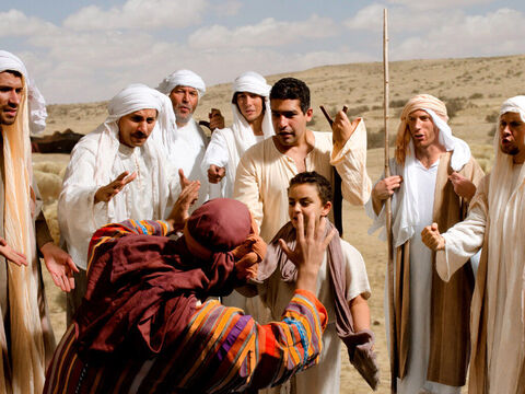 The brothers interpret the eleven stars as a picture of them bowing down to Joseph and their hatred deepens. – Slide 15