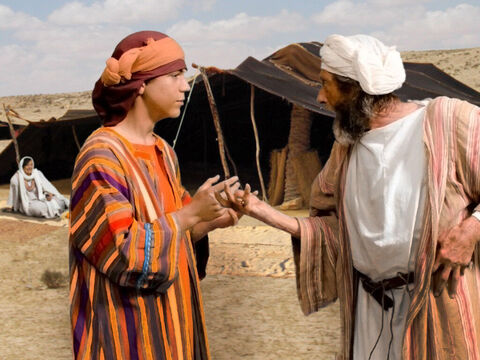 Jabob rebukes him. 'What is this dream you had? Will your mother and I and your brothers actually come and bow down to the ground before you?' – Slide 17