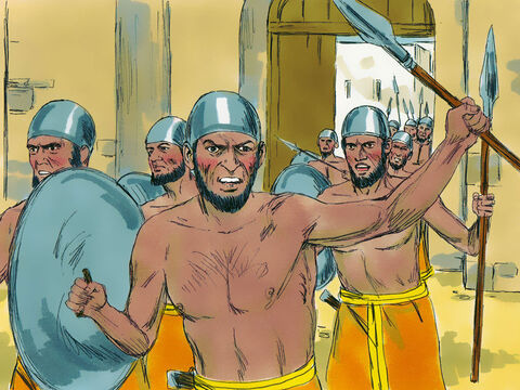 But men of Aichased the Israelites from the town gate, killing about thirty-six as they retreated in defeat. – Slide 5