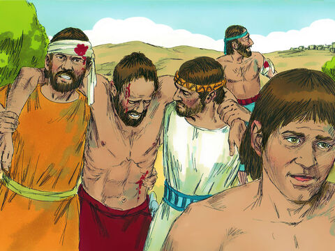 The Israelites were overcome with fear at this turn of events, and their courage melted away. – Slide 6