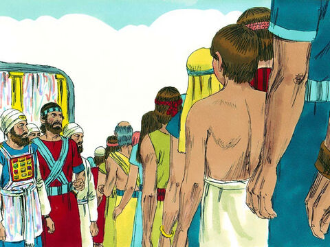 The next morning Joshua ordered the Israelites to present themselves before the Lord tribe by tribe. The tribe of Judah was singled out. Then the clans of Judah came forward, and the clan of Zerah was singled out. Then the families of Zerah came forward, and the family of Zimri was singled out. – Slide 10
