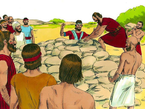 They piled a great heap of stones over Achan. The place has been called the Valley of Troubleever since. After this the Lord was no longer angry with the Israelites. – Slide 15