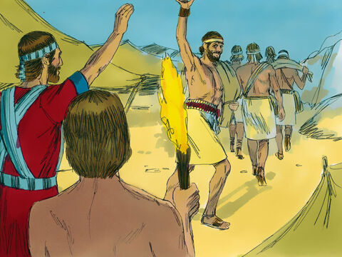 Joshua chose 30,000 of his best warriors and sent them out at night. The plan was to hide behind the town. Another group would attack from the front then run away as they had done before when the enemy were drawn out of their town. Then those hiding in ambush would take the town. – Slide 3