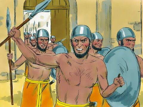 When the king of Ai saw the Israelites across the valley, he and all his army hurried out early in the morning and attacked them. He didn't realize that an ambush had been set. – Slide 5