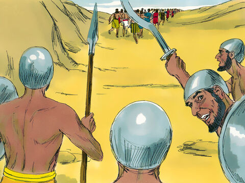 Joshua and the Israelite army fled toward the wilderness as though they were badly beaten. – Slide 7