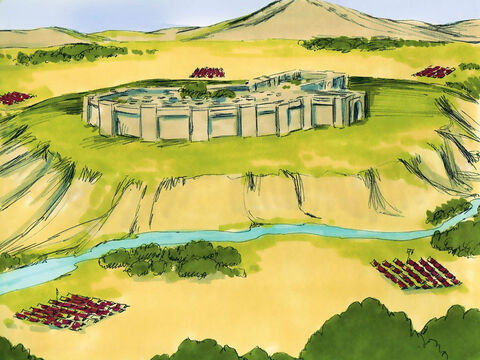 With Joshua as their leader, the Israelites had crossed the River Jordan and many of the towns and cities in the Promised Land. – Slide 1