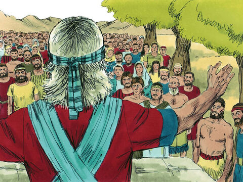 Joshua called together the troops from the tribes of Reuben, Gad and Manasseh living east of the Jordan. 'You have obeyed the Lord in every order I have given you,' Joshua told them. 'Even though the campaign has lasted a long time you have not deserted the other tribes. Now go and live in the land Moses promised you on the east of the river Jordan and continue to obey the Lord your God.' – Slide 11