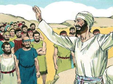 Phinehas replied, 'The Lord is among us because you have not rebelled against the Lord as we thought. Instead, you have saved us from destruction!' – Slide 16