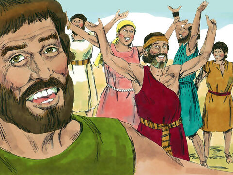 Phineas and the delegation returned to the tribes on the west side of the River Jordan and explained why the monument had been built. – Slide 17