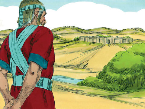 Joshua had trusted God to drive out the strong nations in the Promised Land. Much of the land from the Jordan River to the Mediterranean Sea now belonged to the Israelites. – Slide 1