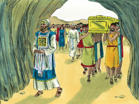 Joshua was buried on his own estate at Timnath-serah, in the hill country of Ephraim. – Slide 11