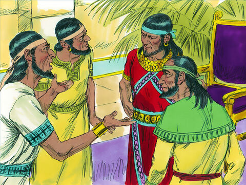 In the city of Gibeon and the nearby towns of Kephirah, Beeroth, and Kiriath-jearim the people met in fear wondering what to do. They knew God had told the Israelites not to make treaties with anyone in Canaan but destroy all those living in the land because of their wickedness. Instead of joining those gathering to fight the Israelites, the Gibeonites came up with a devious plan to save their lives. – Slide 3