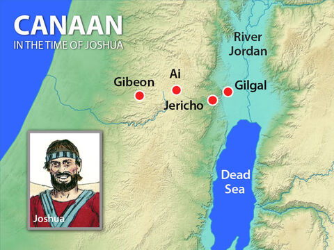Gibeon was only a three day walk from the Israelite base at Gilgal. The people of Gibeon and the nearby towns were Hivites. – Slide 4