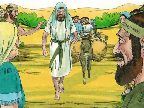When they arrived at the Israelite camp at Gilgal, they told Joshua and the men of Israel, 'We have come from a distant land to ask you to make a peace treaty with us.' – Slide 6