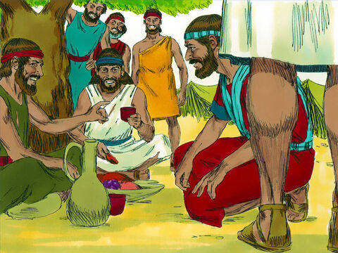 Joshua and the Israelites examined their food but did not ask God what to do. Joshua then made a peace treaty with them and guaranteed their safety. The leaders of the Israelites ratified their agreement with a binding oath. – Slide 8