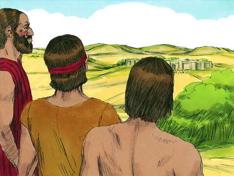 Three days after making the treaty, the Israelites learned that these people actually lived nearby! They sent men to investigate and reached their towns in three days.  – Slide 9