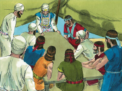 The people of Israel grumbled against their leaders because of the treaty. The leaders replied, 'Since we have sworn an oath in the presence of the Lord, we cannot touch the Gibeonites. Divine anger would come upon us if we broke our promise.' – Slide 10