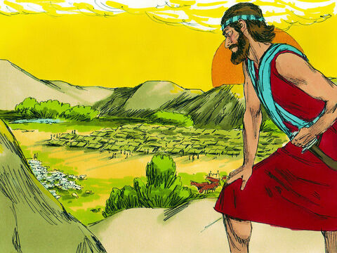 God told Joshua, 'Get ready to cross the River Jordan. Every place you set foot on I will give you and nobody will be able to stand in your way. I will never leave you or let you down. Be strong and show courage. Obey God's law and think deeply about it then you will be successful.' – Slide 3