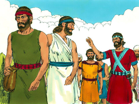 Joshua secretly sent two spies to check out the land and the city of Jericho. – Slide 7