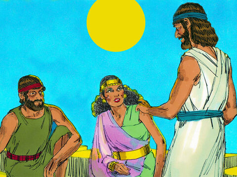 They entered Jericho and made for the house of Rahab, (a local prostitute) who often took strangers and visitors into her home. – Slide 8