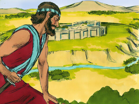 Joshua was ready to move into the Promised Land. But how were so many people all going to be able to cross the River Jordan, which was in flood? – Slide 20