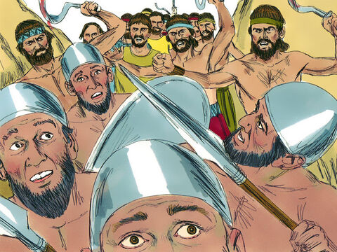 That night the Israelites took the Amorite armies by surprise and chased them as they fled. – Slide 6