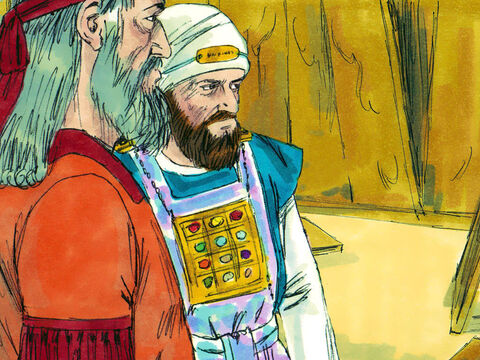 Labourers, carpenters and builders were set to work repairing the damaged building. The Levites supervised the work. – Slide 13