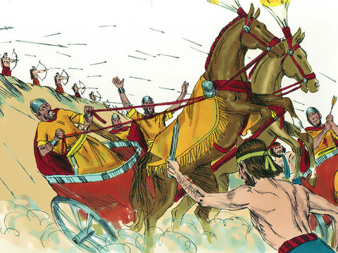 But the king was shot by archers and badly wounded. – Slide 27