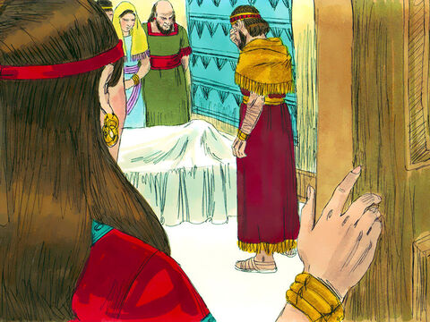 His officers took him out of his chariot, put him in another chariot and brought him back to Jerusalem, where he died. – Slide 28