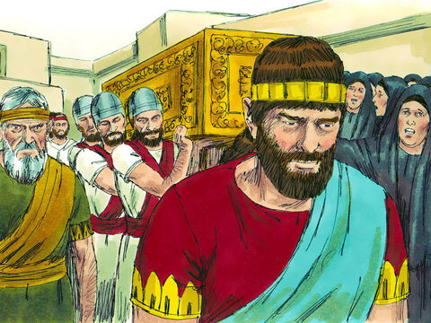 The whole land mourned for King Josiah. Everyone was deeply upset. – Slide 29